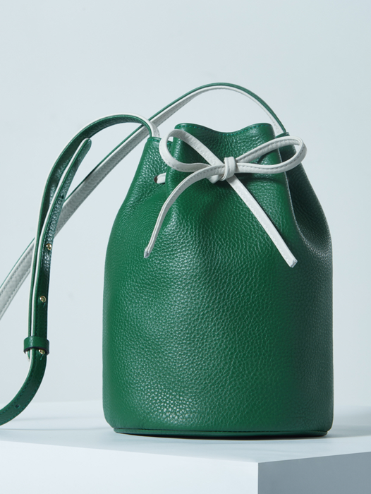Bucket Bag - Green / Ivory