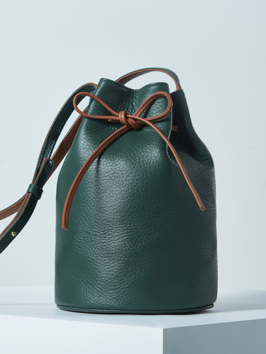 Bucket Bag - York Green / Camel Tan
