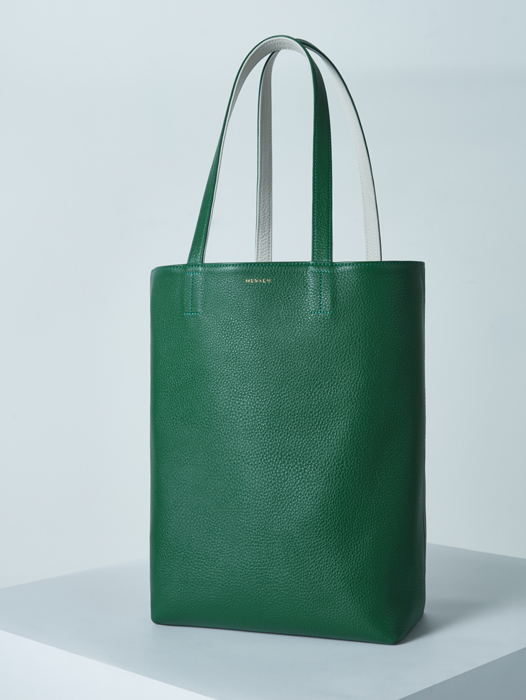 Shopper Bag - Green / Ivory