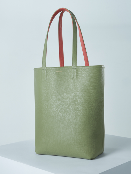 Shopper Bag - Yellow-Green / Scarlet